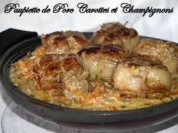 cuisiner les paupiettes de porc paupiette de porc carottes et chignons dans vos assiettes