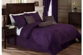 King Comforter Bedding Sets 7 Pieces Solid Lavender Purple Micro Suede Comforter Bedding Set