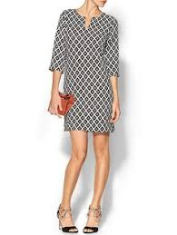 exclusive citrus grove taupe color block shift dress taupe