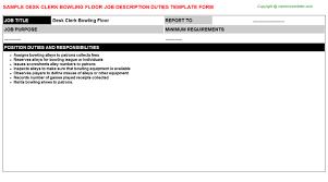 pharmacy help desk job description desk clerk bowling floor job description