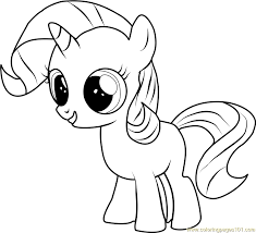 filly rarity coloring free pony friendship