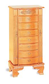 Jewelry Chest Armoire Deluxe Oak Jewelry Armoire Jewelry Armoires Atlantic Bedding