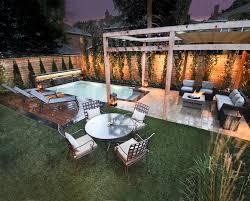 small backyard pools spaces rustic with backyard retreat flagstone