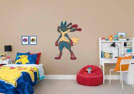 mega lucario wall decal shop fathead for pokemon decor mega lucario fathead wall decal