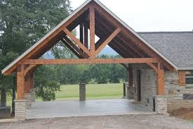 hand build architectural wood framework model house hand hewn timber frame carport rustic garden shed and building