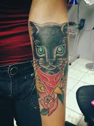 black cat tattoo design ideas with meaning 2018