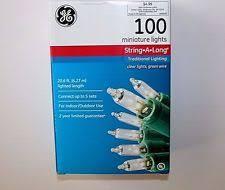 ge clear 100 miniature indoor outdoor lights green wire