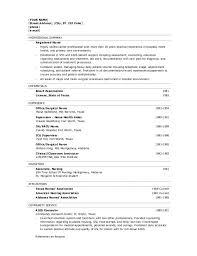 Resume Templates For Nursing Students Emergency Room Nurse Resume Templates For Nurses Hospital 791 Saneme