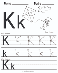 ideas of letter k worksheets for preschool in resume shishita