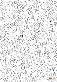 sea pattern coloring page free printable coloring pages