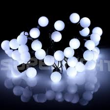 waterproof 50 white led globe string lights with 16 4ft