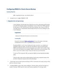 download student guide oracle secure backup volume i