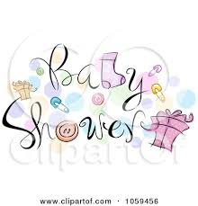baby shower posters baby shower text with items and dots posters prints by bnp