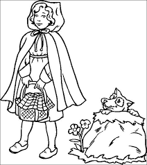 red riding hood free printable coloring pages red