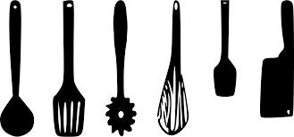 Kitchen Utensil Design by Kitchen Utensils Clipart Black And White Uotsh