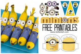 37 minion paper crafts u0026 despicable printables red ted art u0027s