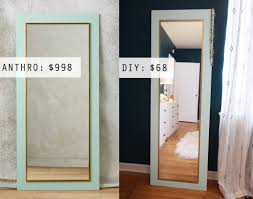 Bevelled Floor Mirror design evolving anthro hack diy floor mirror designevolving com