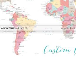 Colombia World Map by Custom Quote Color And Size World Map With Cities Capitals