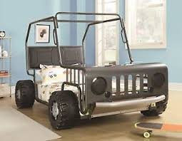 cool black metal jeep car shaped youth twin bed bedroom furniture