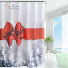 new arrival 2016 waterproof christmas polyester shower curtain
