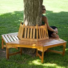 bench tree benches backless wooden benches wrap around tree