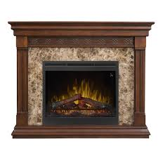 dimplex alcott 51 inch electric fireplace mantel inner glow logs