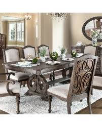 Two Pedestal Dining Table Deal Alert Furniture Of America Dianne Scrolled Double Pedestal