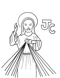 j is for jesus christ lord of divine mercy saints to color