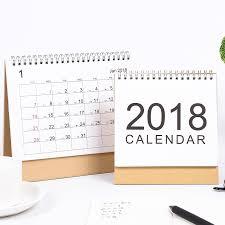 bureau muji muji stijl eenvoudige bureau kalender 2017 2018 rainlendar