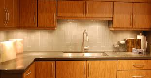 kitchen subway tile backsplash with mosaic deco band wooster of