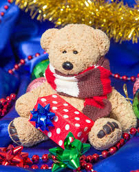 teddy decorations teddy with christmas decorations stock image image