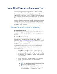 Executive Summary Sample For Resume by Executive Summary