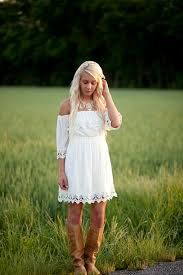 dress white lace southern trendy vintage off the shoulder
