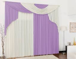 Purple And White Curtains Country Floral Print Bedroom Purple And White Curtains