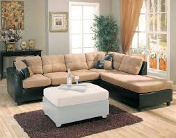 boaconda sectional sofa chaise with tan microfiber in black