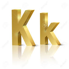 letter k of golden design alphabet royalty free cliparts vectors