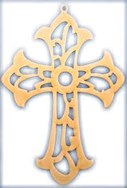 cross with scroll work wood cutout 7 x 4 75 package of 10 products