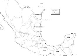 mexico map coloring sheet coloring pages ideas