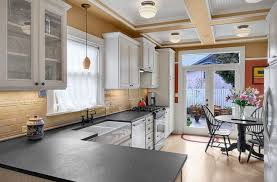 white kitchen cabinets with slate countertops slate countertops design ideas for generate more valuable