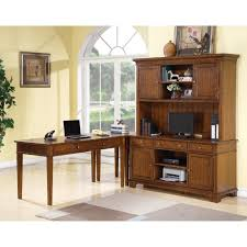 Computer Hutch Desk With Doors Furniture Elegant Idea Of L Shaped Computer Desk With Hutch For