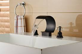 new luxury oil rubbed bronze waterfall bathroom faucet crystal