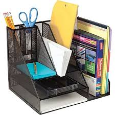 Desk Organizer Staples Metal Mesh Desk Organizer Black Staples