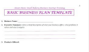 bakery business plan template restaurantsamplebusinessplan