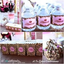 Cheetah Party Decorations Leopard Print Baby Shower Ideas Home Design Inspirations