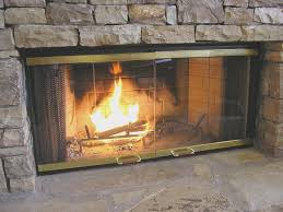 fireplace simple cleaning glass on fireplace doors images home
