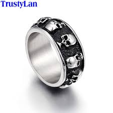 skull finger rings images Buy trustylan stainless steel man ring punk rock jpg