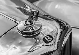 bentley logo black and white photo bentley logo emblem antique cars closeup