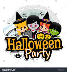 kids at halloween party vector royalty free stock image image