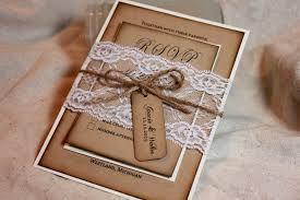 rustic wedding invitations lace and kraft rustic wedding
