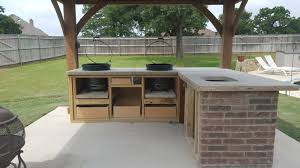 outdoor kitchen almost done pics corrected u2014 big green egg
